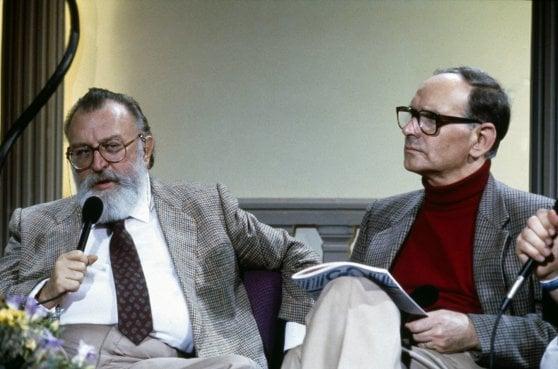 Sergio Leone(Left) And  (Ennio Moriconne(Right