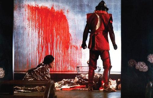 نمایی از فیلم سریر خونین ساخته آکیرا کوروساوا