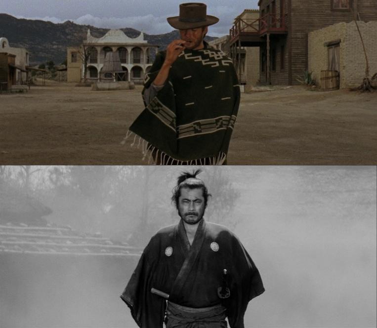 Up:Clint Easrwood Down:Toshiro Mifonne