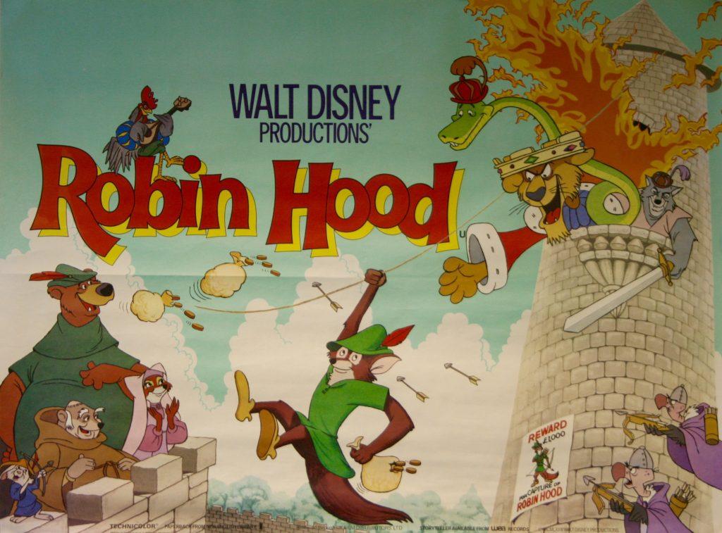 پوستر انیمیشن رابین هود ساخته دیزنی