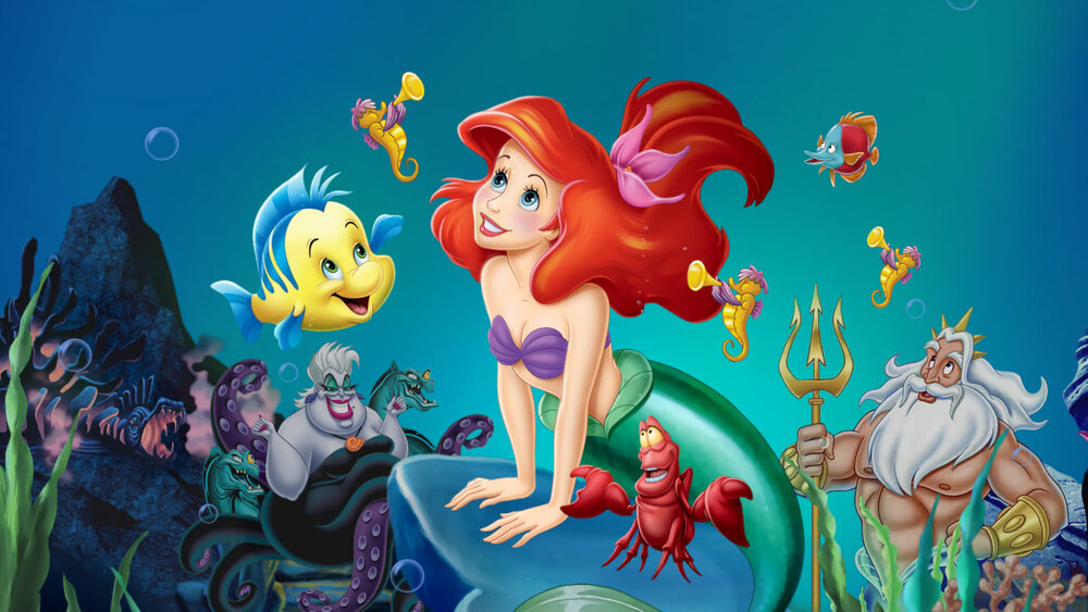 پوستر انیمیشن پری دریایی کوچک