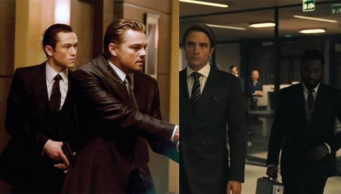 راست : نمایی از فیلم تنت                        چپ : نمایی از فیلم تلقین