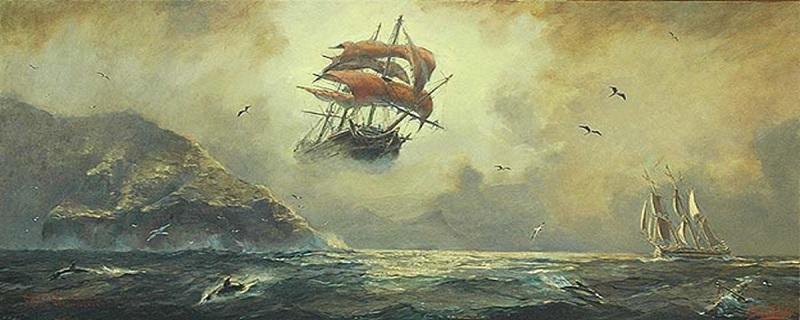 نقاشی کشتی هاندی سرگردان