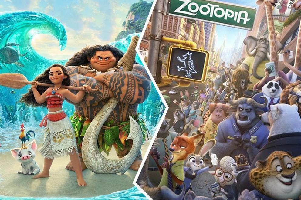 پوستر زوتوپیا و موانا