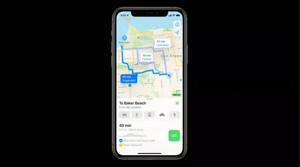 iOS 14 Maps_ نشان دادن مسیر دوچرخه_ ریون مگ