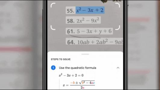 آموزش حل مسائل ریاضی با گوگل لنز