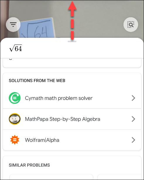 گام هفتم در استفاده از گوگل لنز برای حل مسائل ریاضی_ ریون مگ