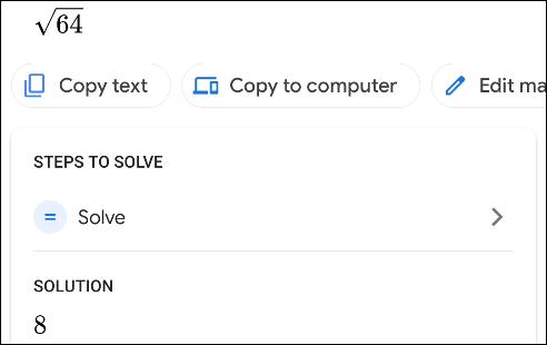 گام ششم در استفاده از گوگل لنز برای حل مسائل ریاضی_ ریون مگ