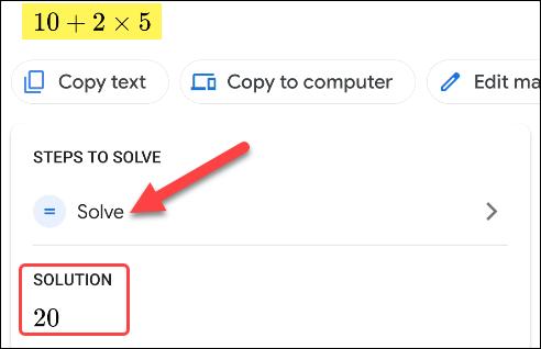گام سوم در حل مسائل ریاضی با گوگل لنز_ ریون مگ