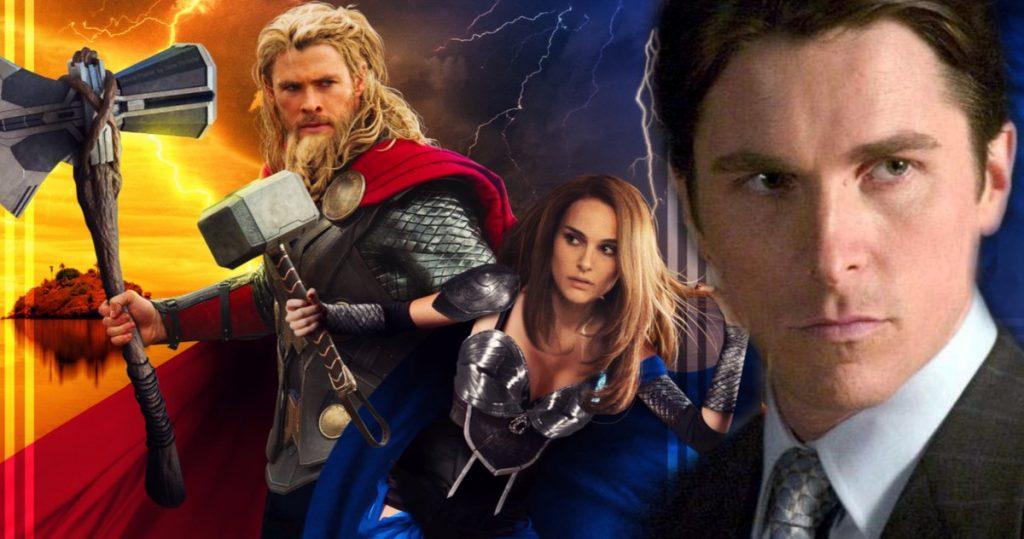 کریستین بیل ، ناتالی پورتمن و کریس همسورث بازیگران Thor: Love and Thunder