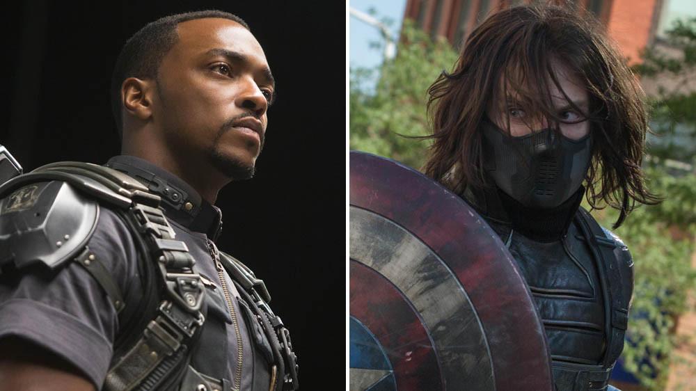 باکی بارنز و سم ویلسون در Captain America: Winter Soldier