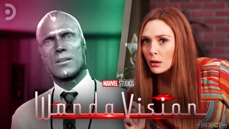 الیزابت اولسن (واندا) و پل بتانی (ویژن) در سریال WandaVision