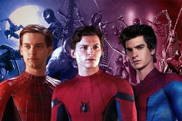 اندرو گارفیلد ، تام هالند و توبی مگوایر در نقش مرد عنکبوتی